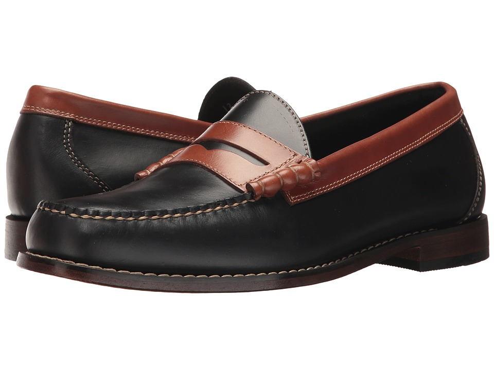 G.H. Bass & Co. Larson Weejuns (Black/Saddle Tan Pull Up) Men