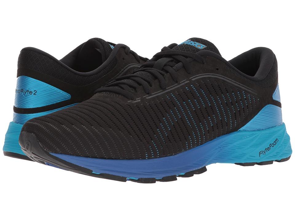 Asics DynaFlyte 2 (Black/Blue/Limoges) Men's Running Shoes