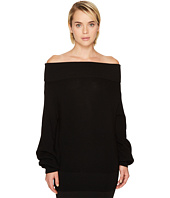FUZZI - Long Sleeve Off the Shoulder Merino Knit Sweater
