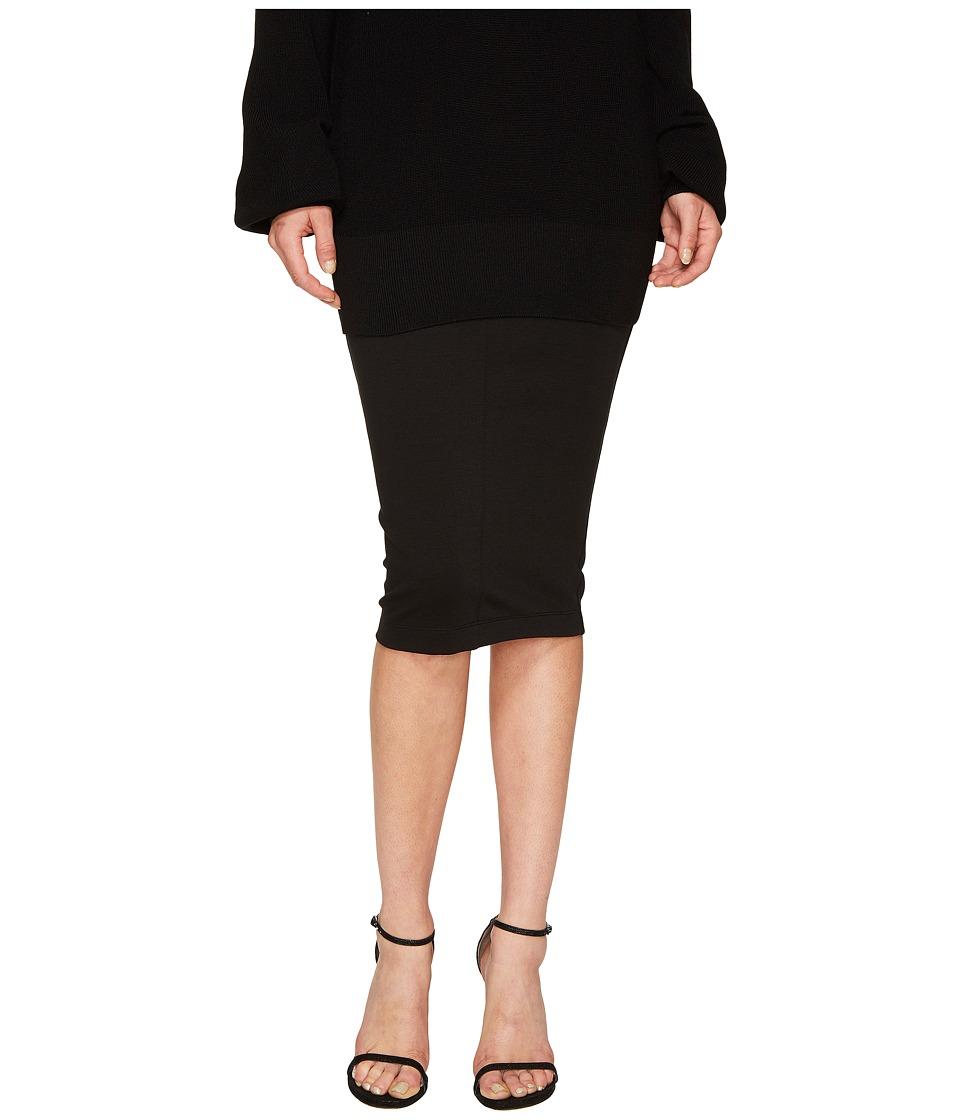 FUZZI - 3/4 Pencil Solid Skirt