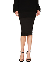 FUZZI - 3/4 Pencil Solid Skirt