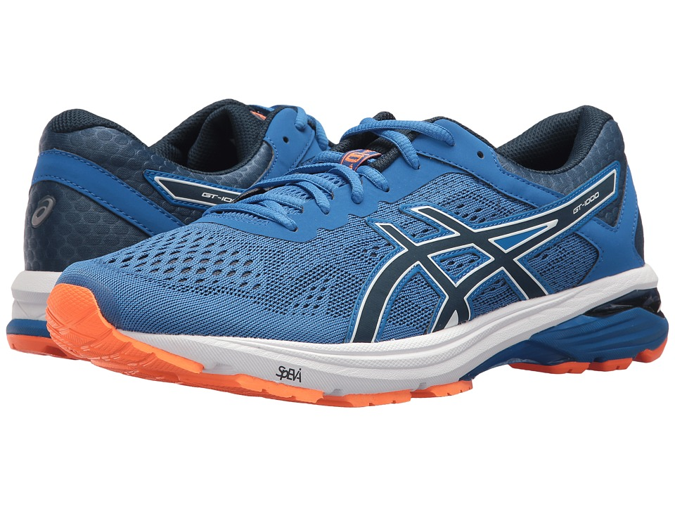 ASICS - GT-1000 6 (Victoria Blue/Dark Blue/Shocking Orange) Mens Running Shoes