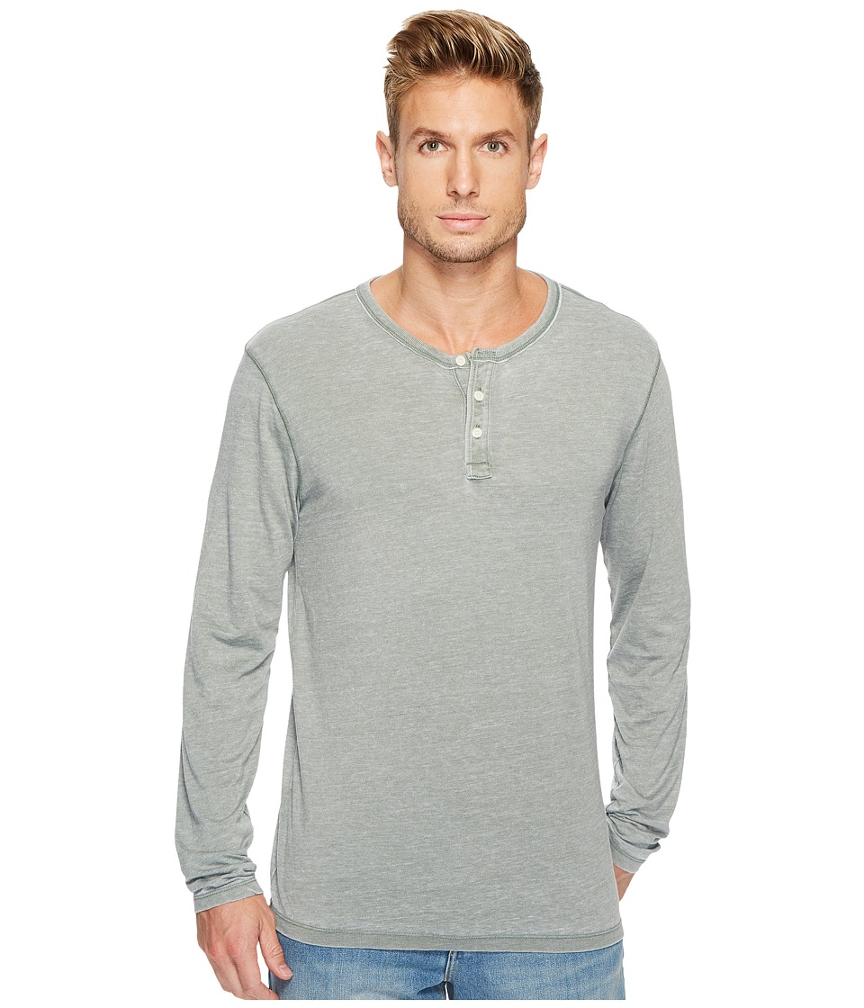 Lucky Brand Venice Burnout Henley (Laurel Wreath) Men