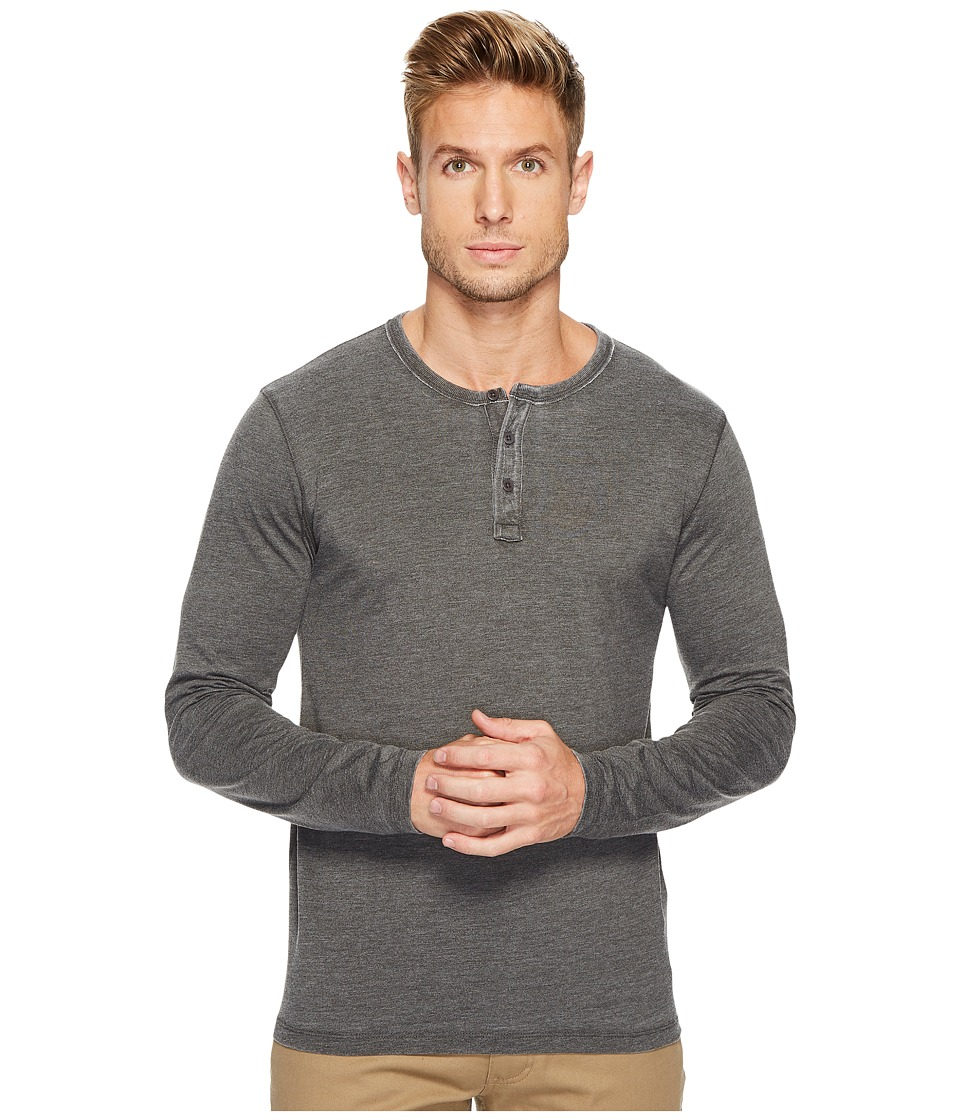 Lucky Brand Venice Burnout Henley (Black Mountain) Men