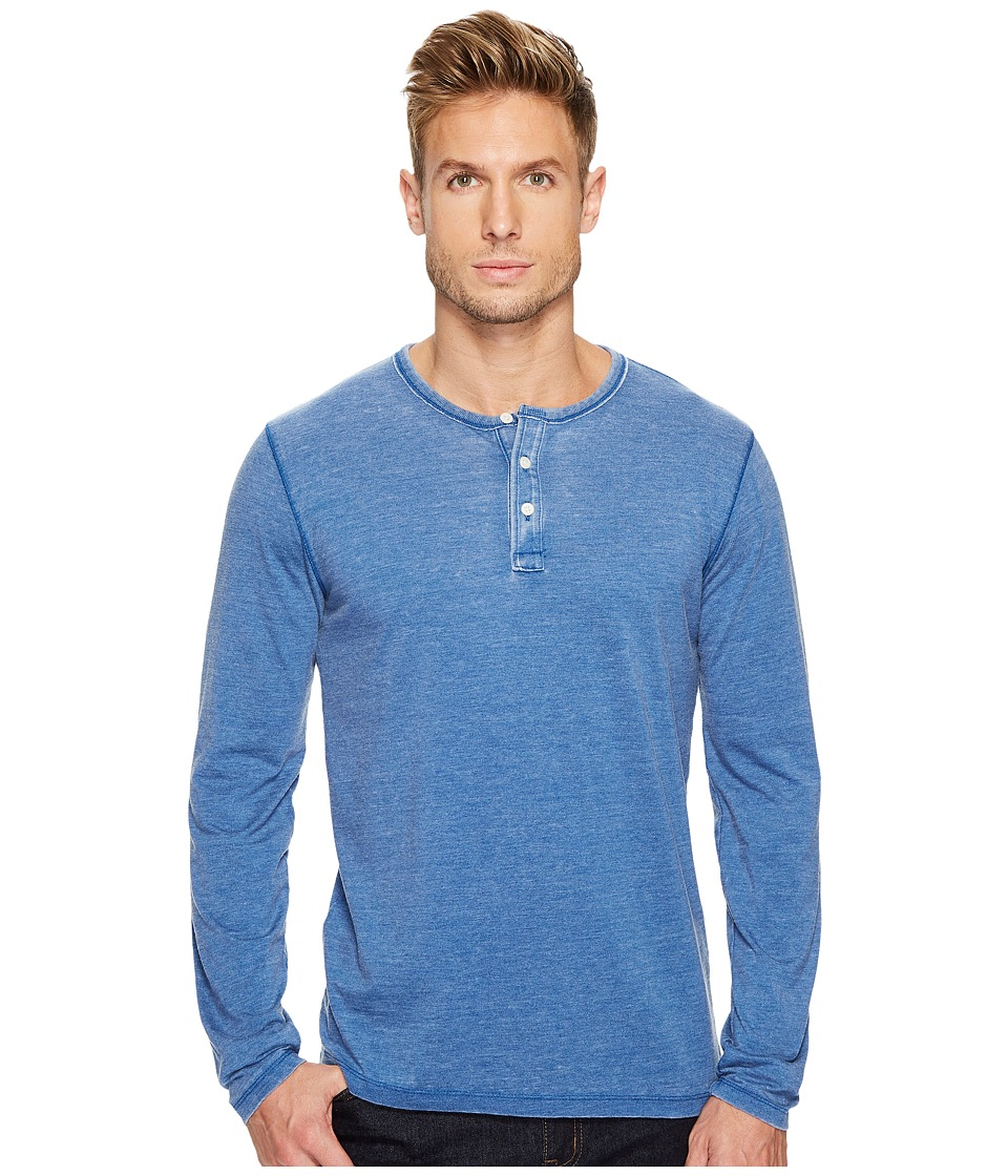 Lucky Brand Venice Burnout Henley (Monaco Blue) Men