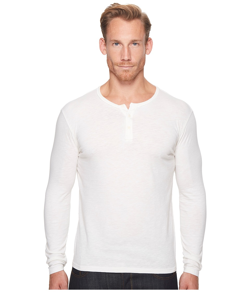 Lucky Brand Long Sleeve Venice Burnout Henley (Marshmallow) Men