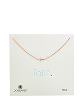 - Faith, Small Sideways Cross Necklace  Gold