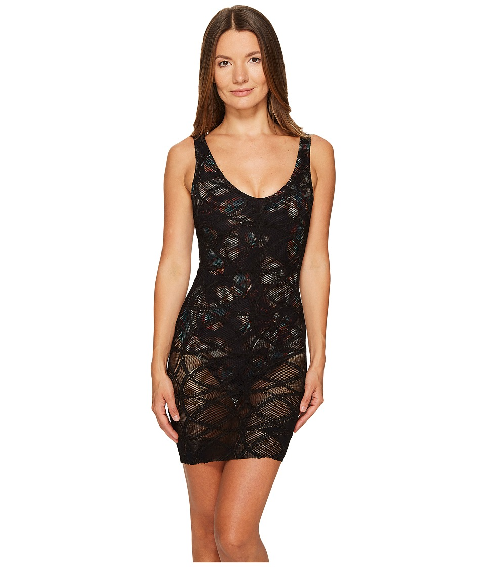 FUZZI - One-Piece Lace Overlay Butterfly Bathing Suit