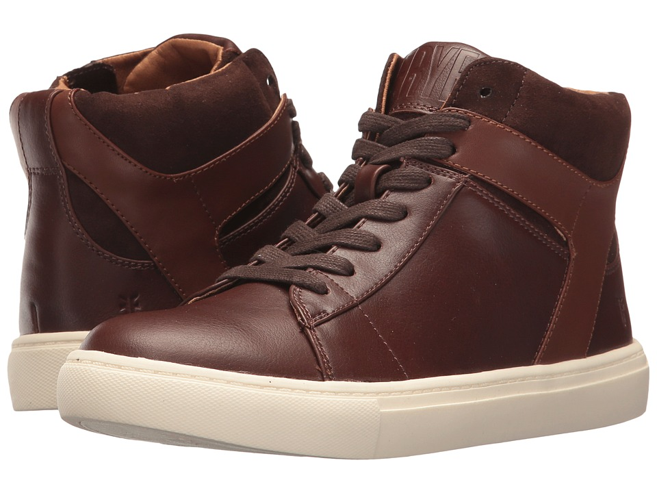 Frye Kids Mark High (Little Kid/Big Kid) (Dark Brown/Cognac) Boy's Shoes