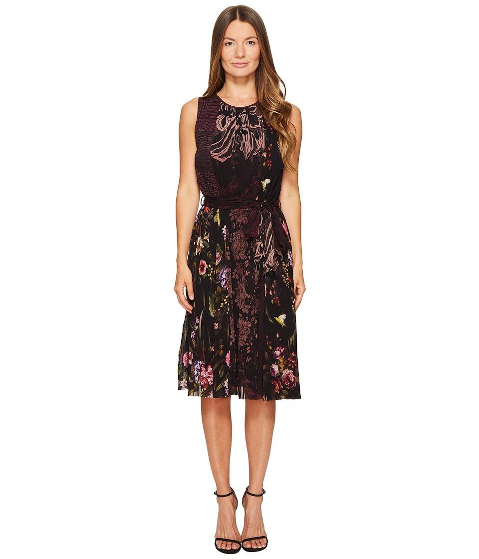 FUZZI Sleeveless Patchwork Dress Cover-Up (Plum) Women