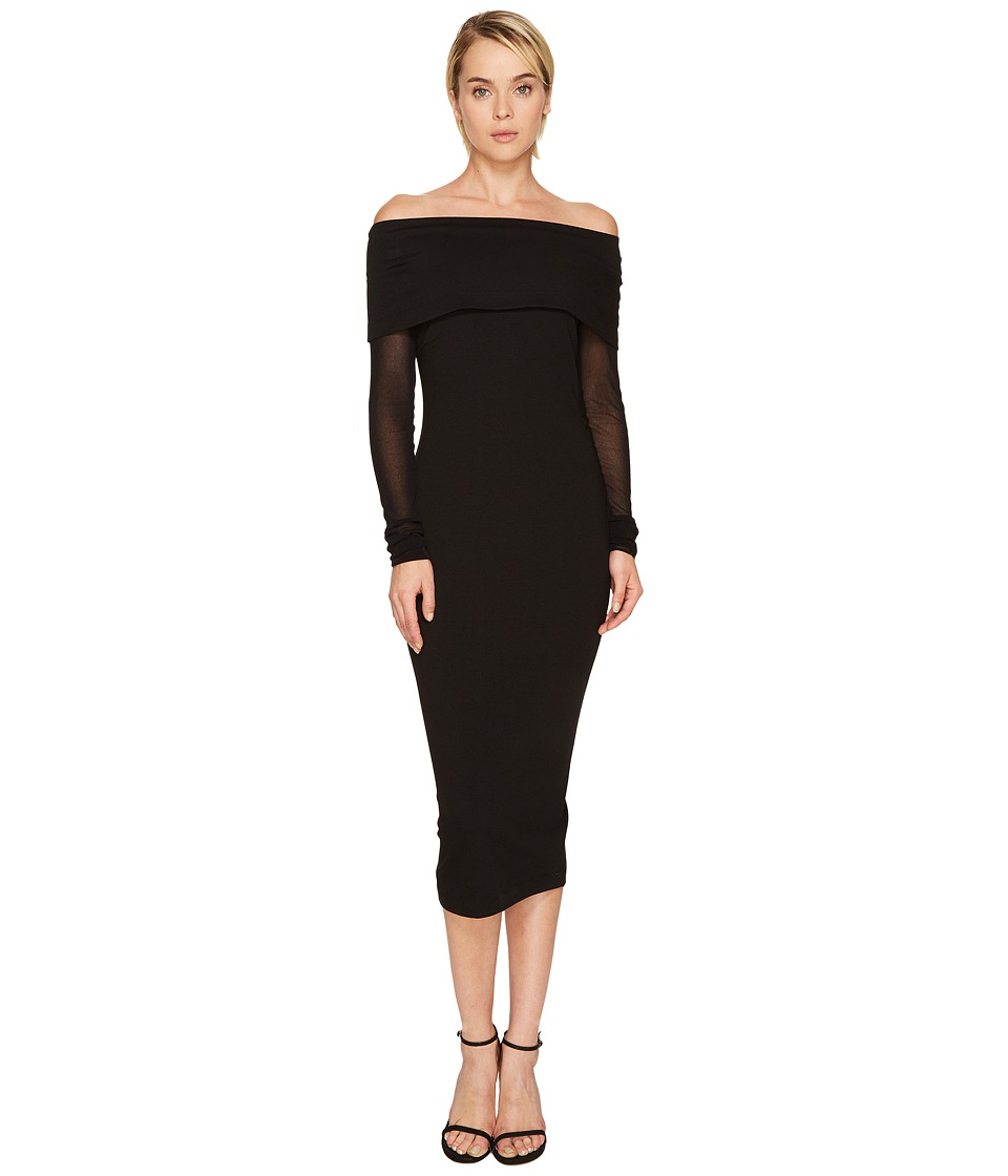 FUZZI - Mesh Long Sleeve Off the Shoulders 3/4 Dress Cover-Up