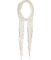 Chan Luu - Chiffon Skinny Scarf with Mirrored Embroidery