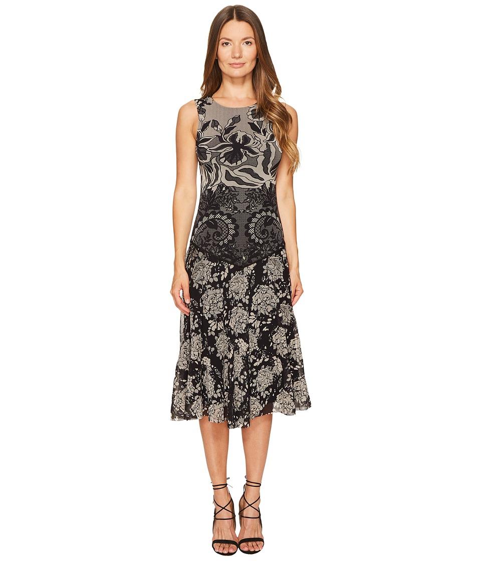 FUZZI Sleeveless Layered Lace 3/4 Dress Cover-Up (Nero) Women