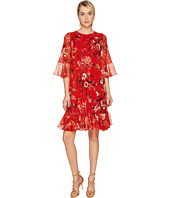 FUZZI - Hummingbird 3/4 Sleeve Silk Creponne Dress Cover-Up