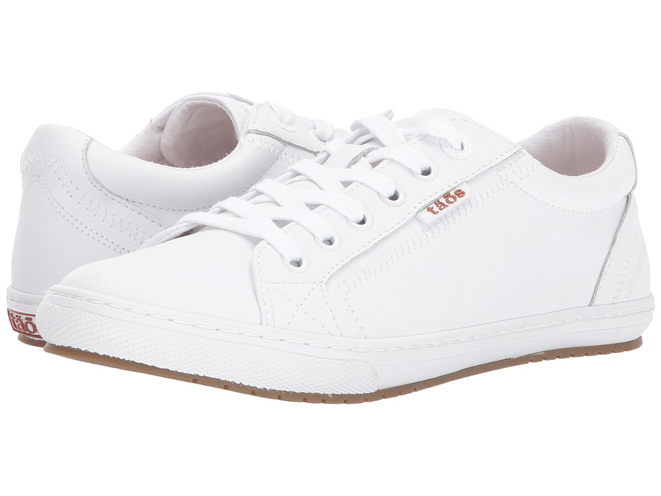 Taos Footwear Retro Star (White Leather) Women