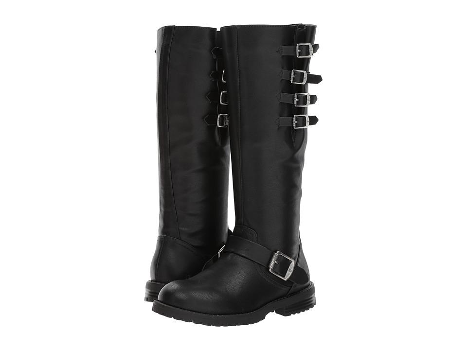 Frye Kids Veronica Buckle Tall (Little Kid/Big Kid) (Black) Girl's Shoes