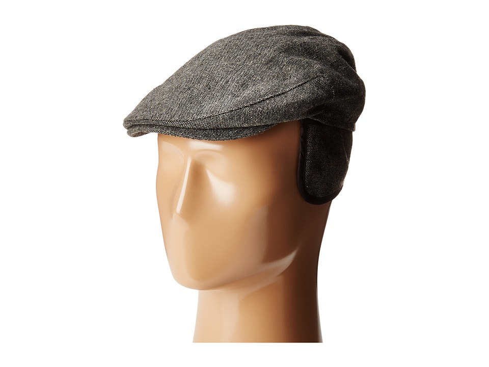 Country Gentleman - Ainsley Flat Ivy Cap with Earflaps (Grey Tweed) Caps