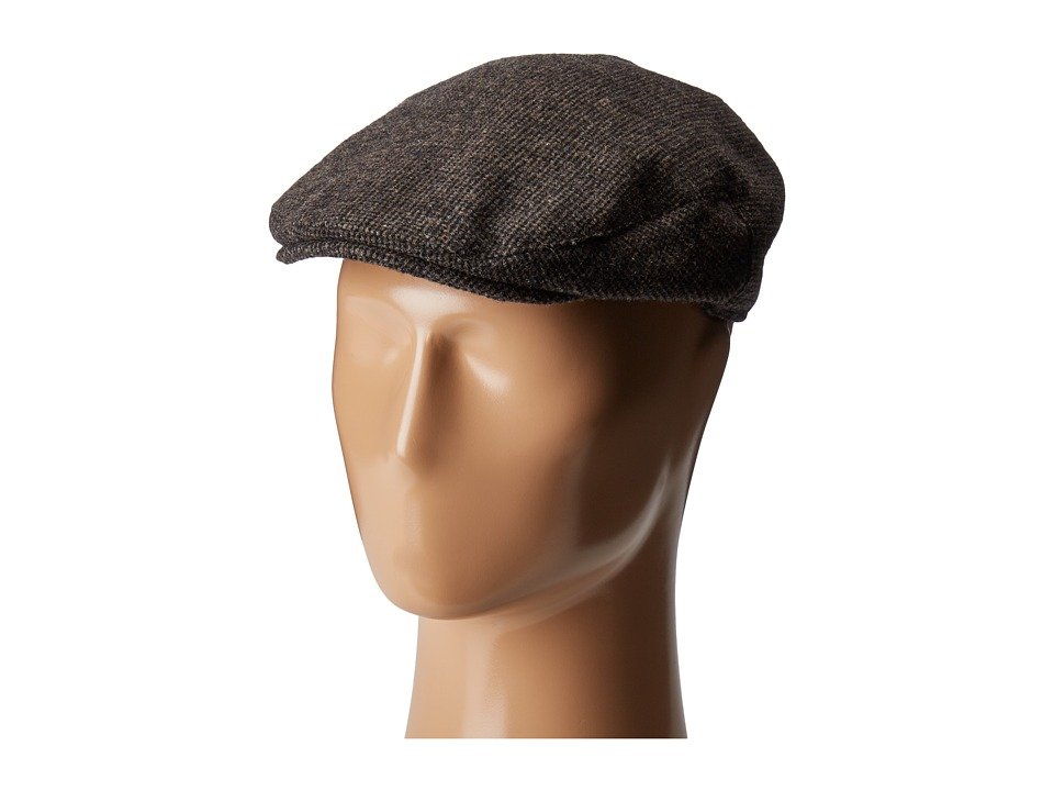 Country Gentleman - British Classic Patterned Flat Ivy Cap (Brown Mini Check) Caps
