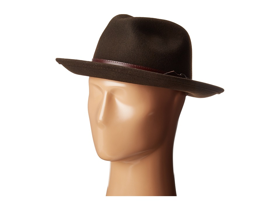 1940s Men's Fashion Clothing Styles Country Gentleman Dunmore Classic Wool Fedora Hat Beaver Caps $60.00 AT vintagedancer.com