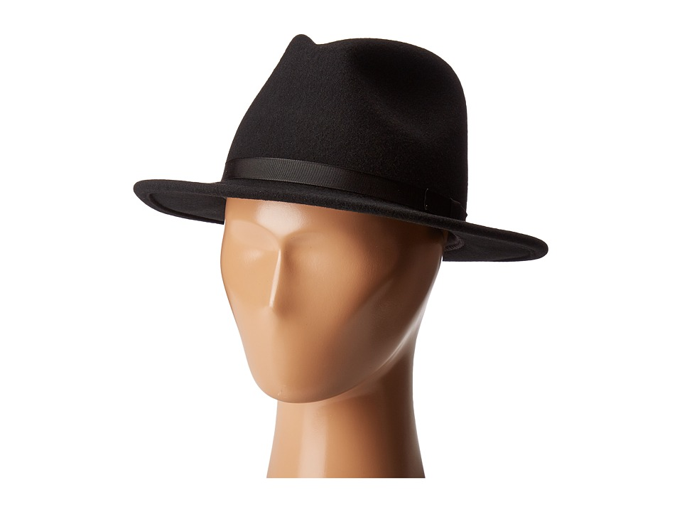 Country Gentleman - Wilton Wool Fedora Hat (Black) Caps