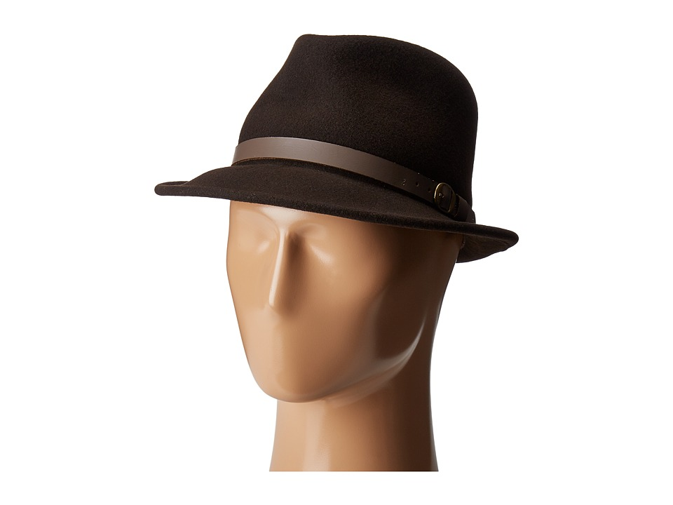 Country Gentleman Wallace Classic Fedora Hat (Beaver) Caps