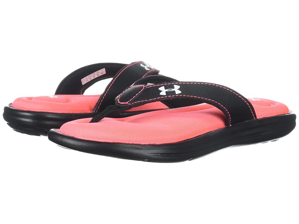 Under Armour Kids UA G Marbella VI T (Little Kid/Big Kid) (Black/Green Typhoon/Brilliance) Girls Shoes