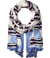 Tory Burch - Via Stripe Logo Oblong Scarf