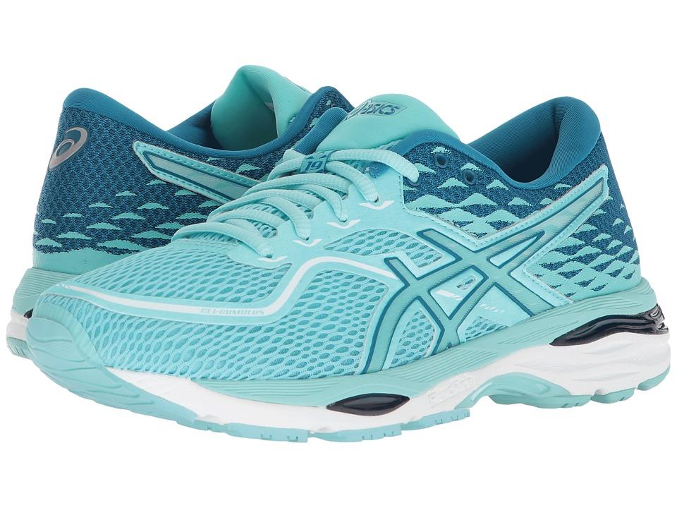 ASICS - GEL-Cumulus(r) 19 (Aruba Blue/Aruba Blue/Turkish Tile) Womens Running Shoes