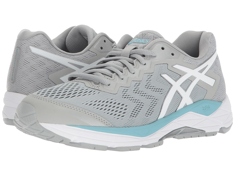 Asics GEL-Fortitude(r) 8 (Mid Grey/White/Porcelain Blue) ...