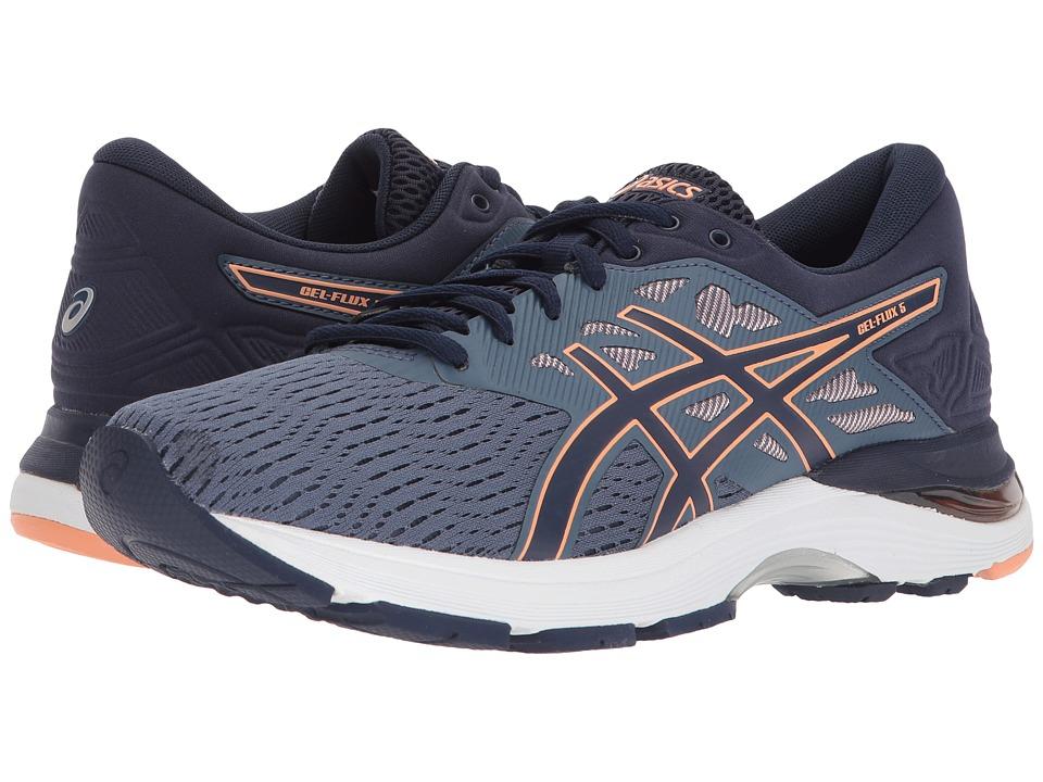 ASICS GEL-Flux 5 (Blue/Canteloupe/Peacoat) Women's Running Shoes