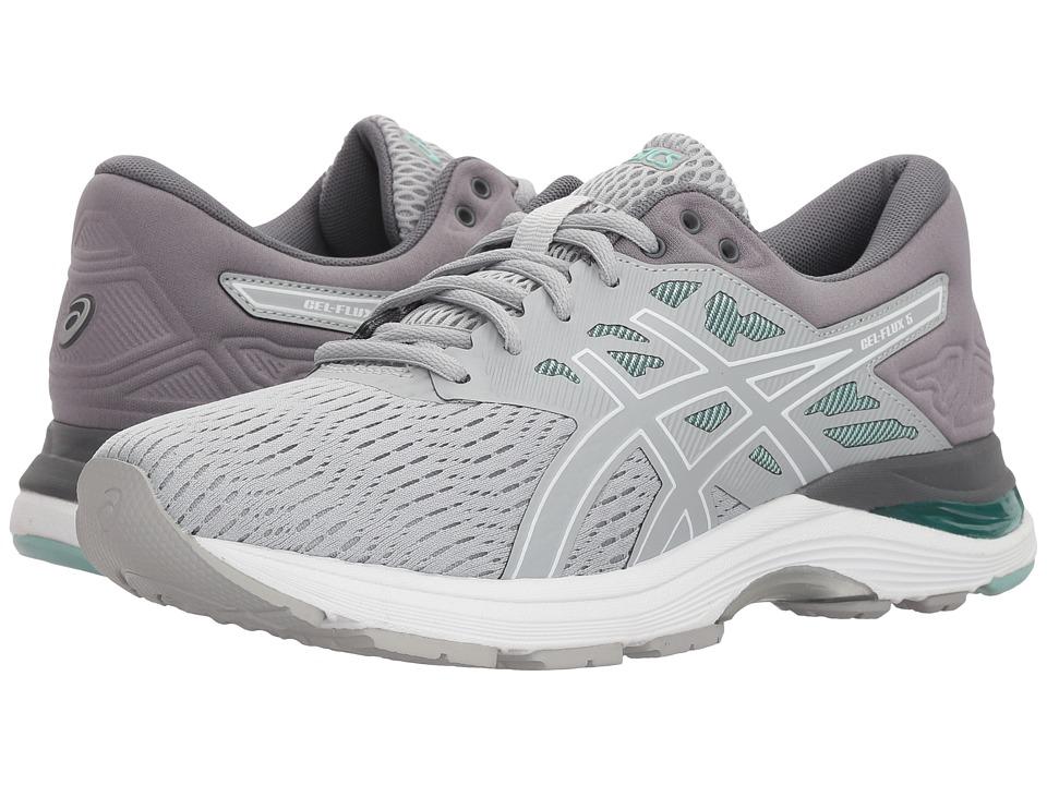 ASICS GEL-Flux 5 (Mid Grey/White/Opal Green) Women's Running Shoes