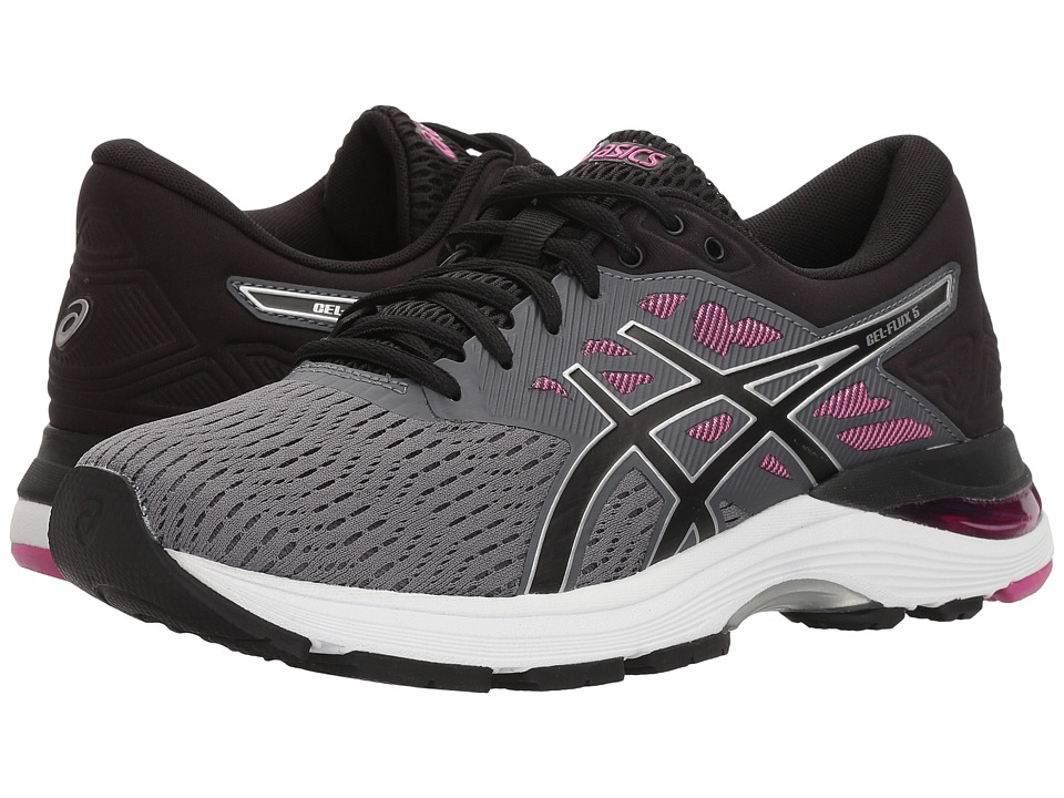 ASICS GEL-Flux 5 (Carbon/Black/Fuchsia) Women's Running Shoes