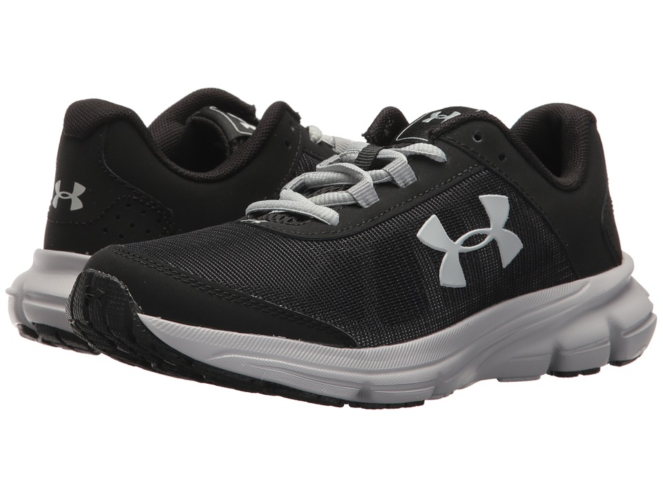 Under Armour Kids UA BGS Rave 2 (Big Kid) (Black/Overcast Gray) Boys Shoes