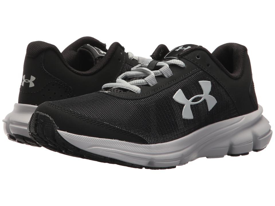Under Armour Kids UA BGS Rave 2 (Big Kid) (Black/Overcast Gray) Boys Shoes