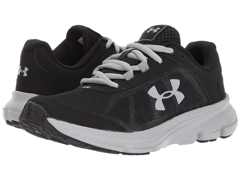 Under Armour Kids UA BPS Rave 2 (Little Kid) (Black/Overcast Gray) Boys Shoes