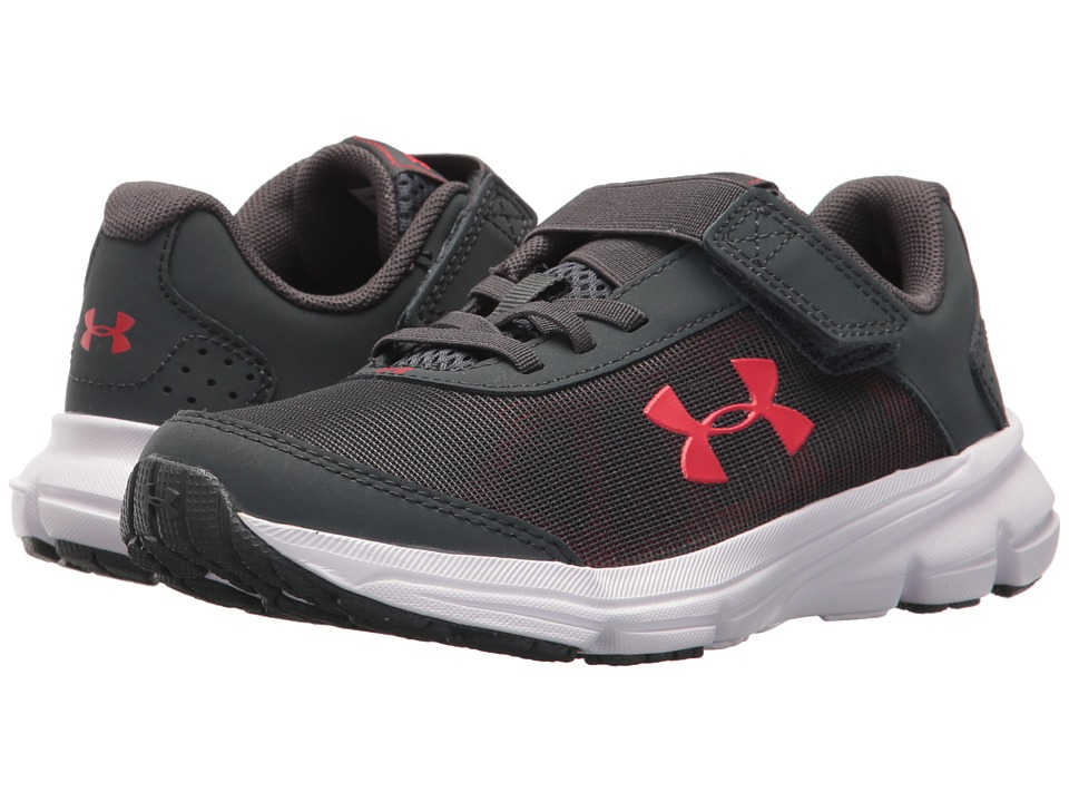 Under Armour Kids UA BPS Rave 2 AC (Little Kid) (Stealth Gray/Red) Boys Shoes