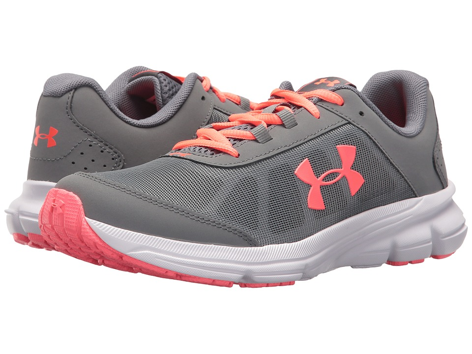 Under Armour Kids UA GGS Rave 2 (Big Kid) (Zinc Gray/Brilliance) Girls Shoes
