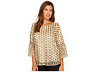 Calvin Klein Embroidered Bell Sleeve Top