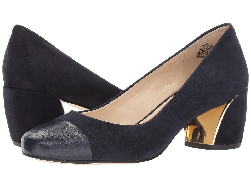 Nine West - Jineya (Navy/Navy Suede) Womens Flat Shoes