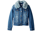 Splendid Littles Faux Fur Collar Denim Jacket (Big Kids)