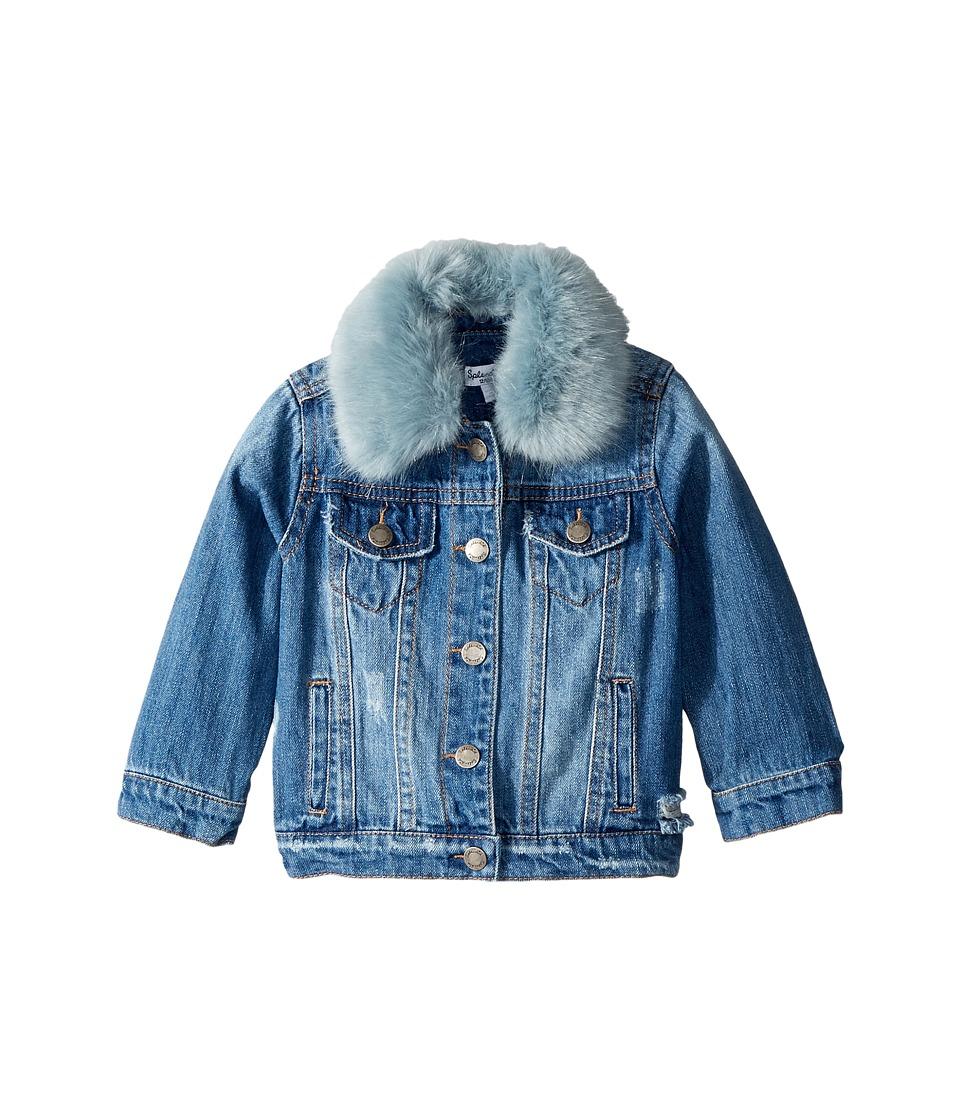 Splendid Littles - Faux Fur Collar Denim Jacket (Infant) ...