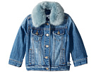 Splendid Littles Faux Fur Collar Denim Jacket (Infant)