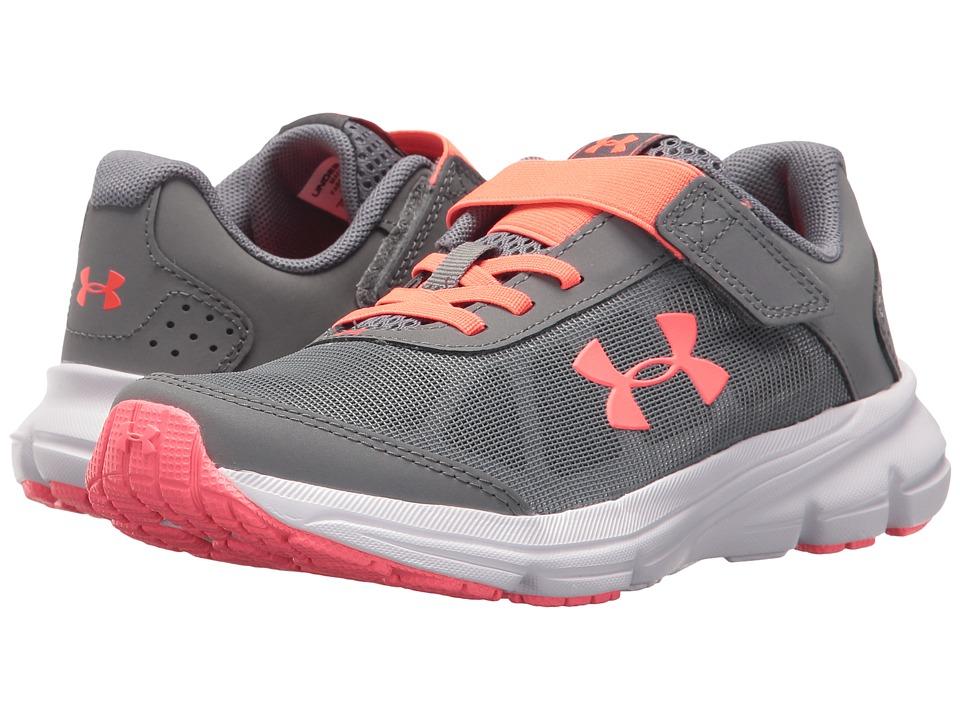 Under Armour Kids UA GPS Rave 2 AC (Little Kid) (Zinc Gray/Brilliance) Girls Shoes
