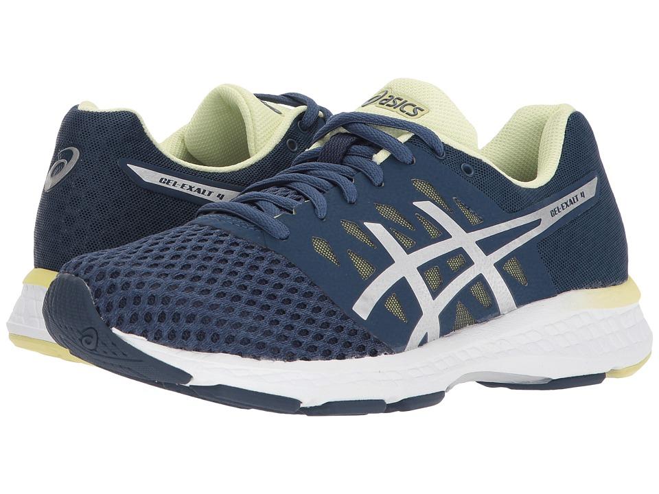 ASICS - GEL-Exalt 4 (Dark Blue/Silver/Limelight) Womens Running Shoes