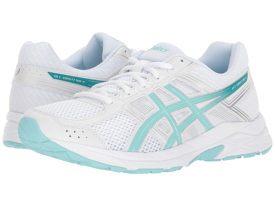 ASICS - GEL-Contend 4 (White/Aruba/Silver) Womens Running Shoes