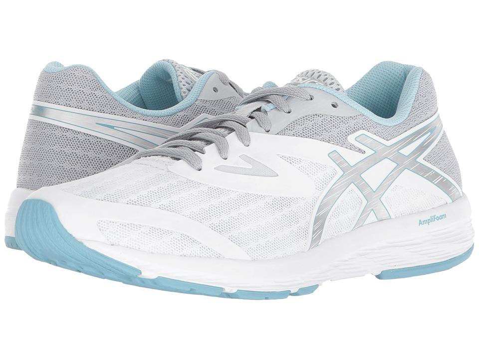 ASICS Amplica (White/Silver/Porcelain Blue) Women's Running Shoes