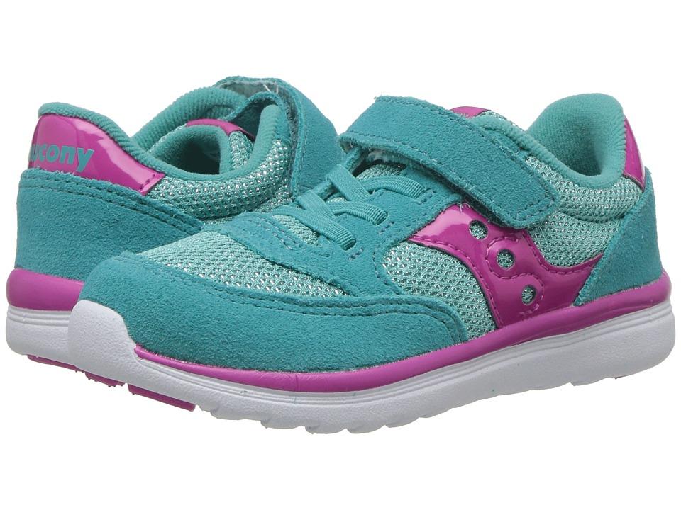 Saucony Kids - Originals Jazz Lite (Toddler/Little Kid) (Turquoise/Sparkle) Girls Shoes