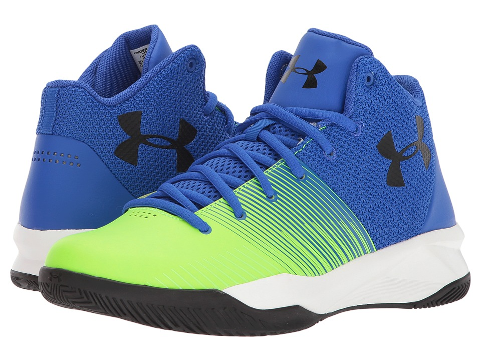 Under Armour Kids UA BGS Surge Basketball (Big Kid) (Team Royal/Arena Green/Black) Boys Shoes