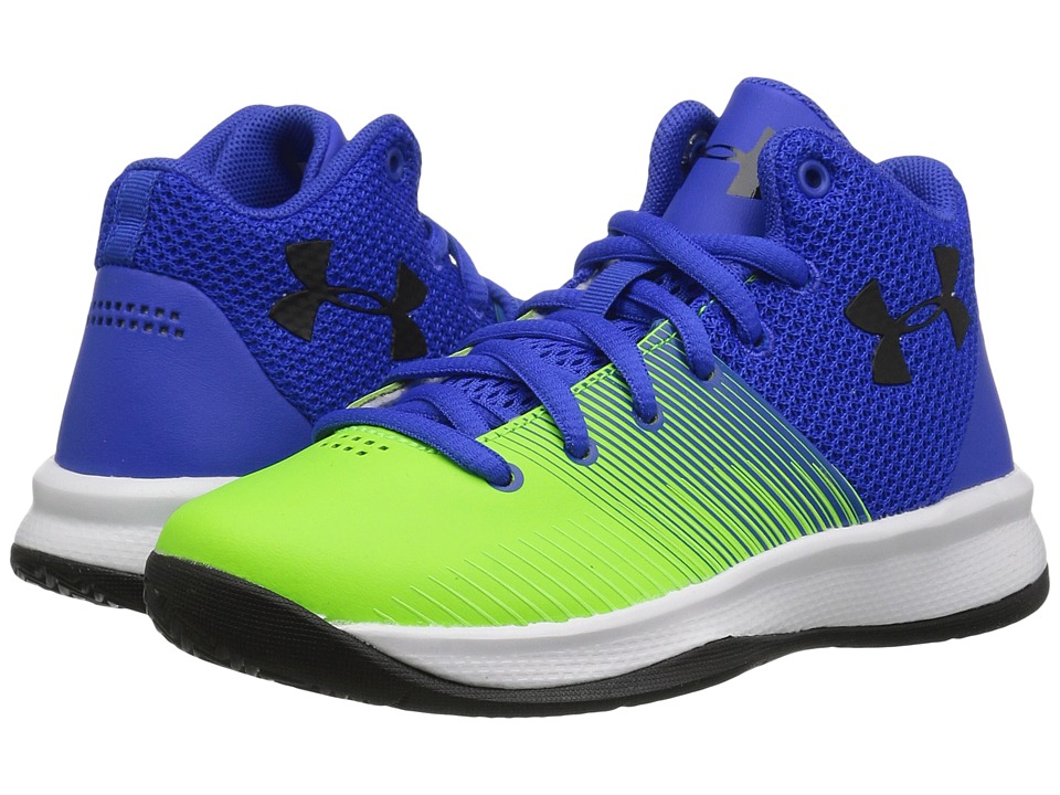Under Armour Kids UA BPS Surge Basketball (Little Kid) (Team Royal/Arena Green/Black) Boys Shoes