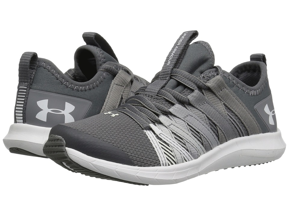 Under Armour Kids UA GPS Infinity (Little Kid) (Graphite/Zinc Gray/White) Girls Shoes